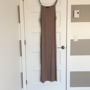 Dresses & Skirts - Taupe Beige Maxi Dress Like New